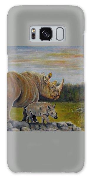 Savanna Overlook, Rhinoceros  Galaxy Case