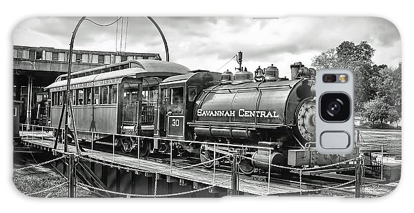 Savannah Central Steam Engine On Turn Table Galaxy Case