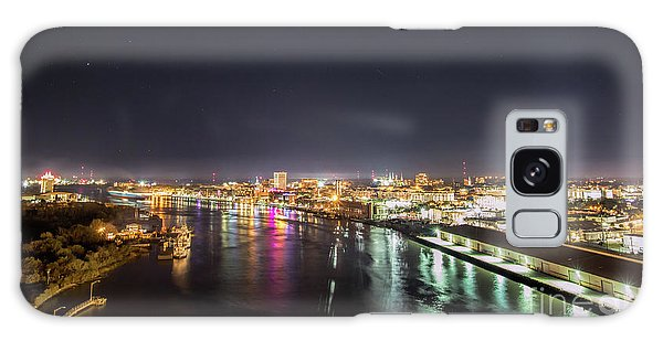Savannah Georgia Skyline Galaxy Case