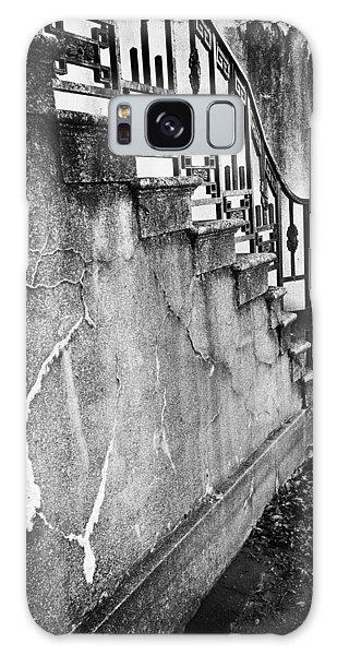 Savannah Stairway Black And White Galaxy Case by Renee Sullivan