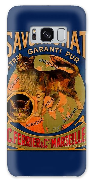 Savon Le Chat Antique French Poster Galaxy Case