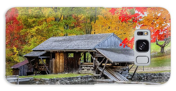 Sawmill Reflection, Autumn In New Hampshire Galaxy Case