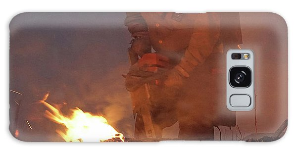 Sawyer, North Pole Fire Galaxy Case by Bill Gabbert