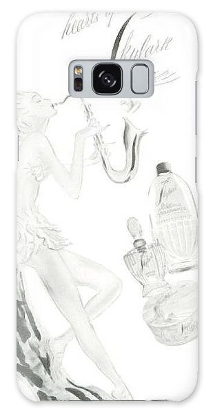 Galaxy Case featuring the digital art Sax Girl by ReInVintaged