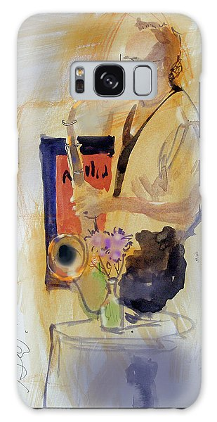 Sax Man Galaxy Case by Gertrude Palmer