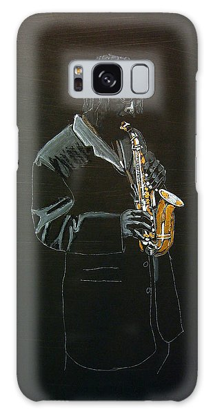 Sax Player Galaxy Case