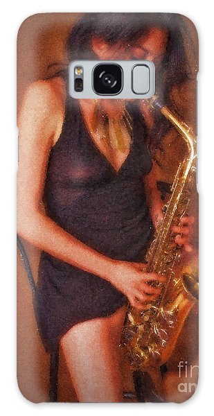 Sax Solo  ... Galaxy Case by Chuck Caramella