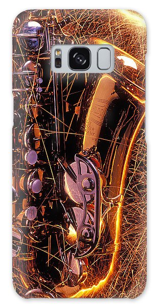 Saxophone Galaxy Case - Sax With Sparks by Garry Gay