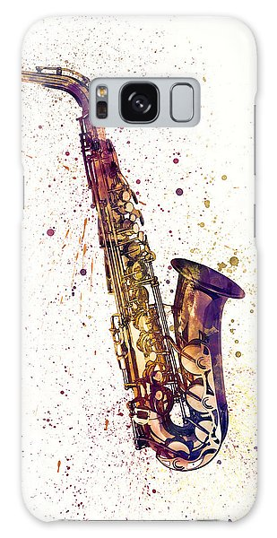 Saxophone Galaxy S8 Case - Saxophone Abstract Watercolor by Michael Tompsett