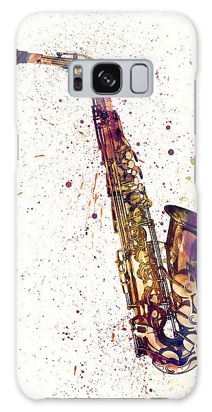 Musical Galaxy Case - Saxophone Abstract Watercolor by Michael Tompsett