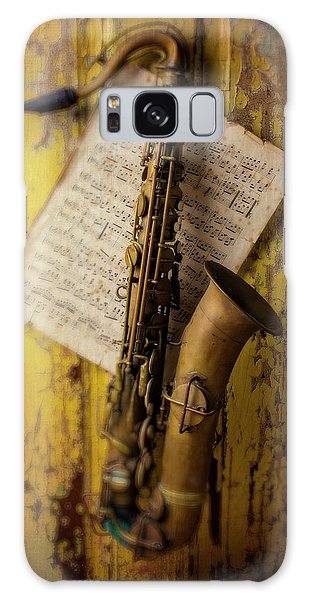 Saxophone Hanging On Old Wall Galaxy Case
