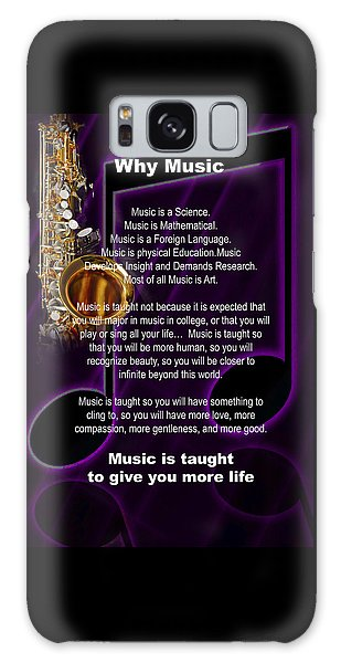 Saxophone Photograph Why Music For T-shirts Posters 4819.02 Galaxy Case