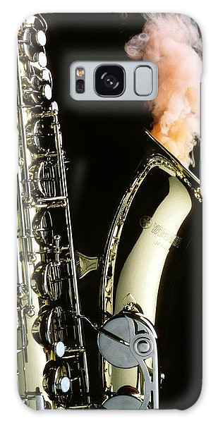 Saxophone Galaxy Case - Saxophone With Smoke by Garry Gay