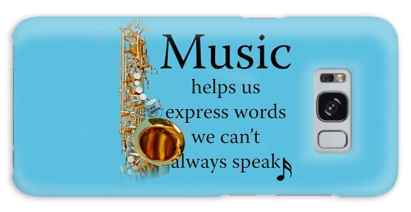 Saxophones Express Words Galaxy Case