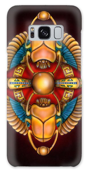 Scarab Beetle Design Galaxy Case