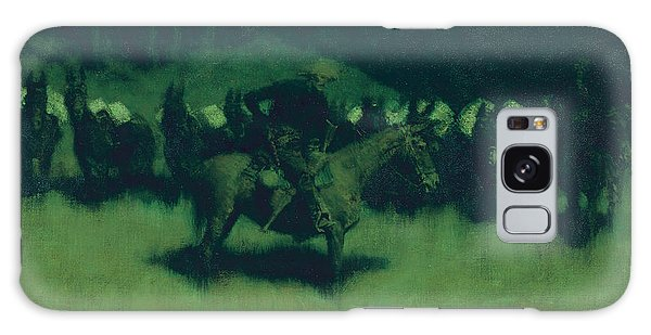Scare In A Pack Train Galaxy Case by Frederic Remington