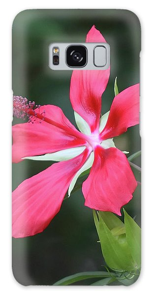 Scarlet Hibiscus #4 Galaxy Case