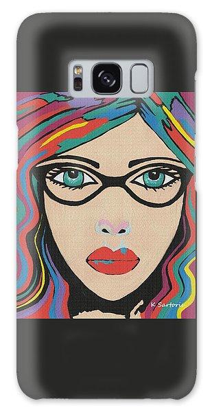 Scarlett - Contemporary Woman Art Galaxy Case