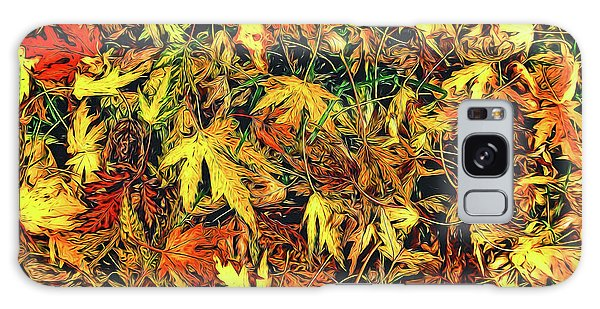 Scattered Autumn Leaves Galaxy Case