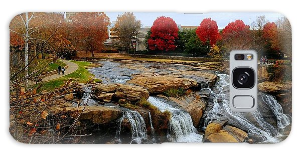 Scene From The Falls Park Bridge In Greenville, Sc Galaxy Case
