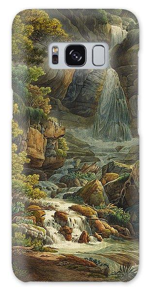 Waterfall Galaxy Case - Schelmenloch Waterfall by Peter Birmann