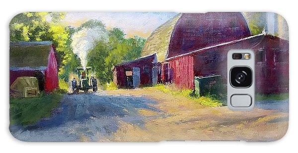 Schober's Barn At Sunset Galaxy Case