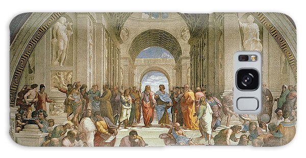 Philosopher Galaxy Case - School Of Athens From The Stanza Della Segnatura by Raphael