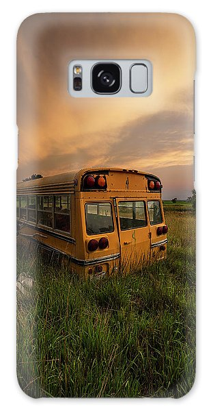 Galaxy Case featuring the photograph School's Out  by Aaron J Groen