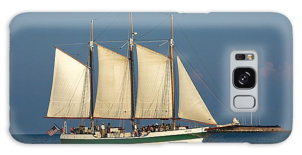 Schooner By Fort Sumter Galaxy Case by Sally Weigand