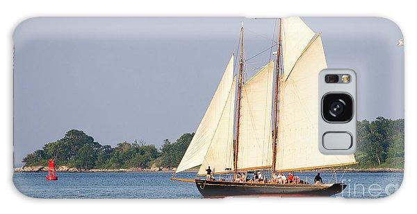 Schooner Cruise, Casco Bay, South Portland, Maine  -86696 Galaxy Case by John Bald