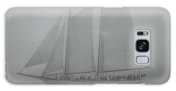 Schooner In Fog Galaxy Case