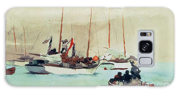 Boat Galaxy S8 Case - Schooners At Anchor In Key West by Winslow Homer