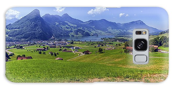 Schwyz And Zurich Canton View, Switzerland Galaxy Case by Elenarts - Elena Duvernay photo