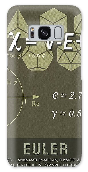 Science Posters - Leonhard Euler - Mathematician, Physicist, Engineer Galaxy Case
