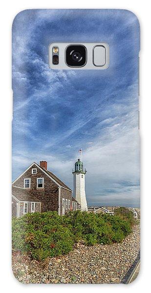 Scituate Lighthouse Boardwalk Galaxy Case