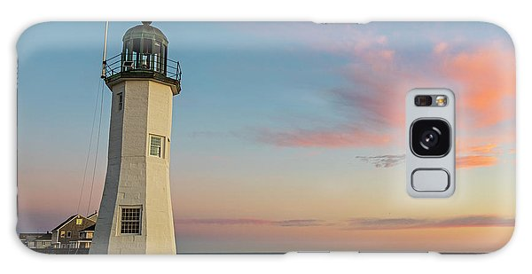 Scituate Lighthouse Scituate Massachusetts South Shore At Sunrise Galaxy Case