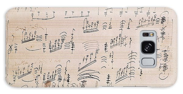 Waves Galaxy Case - Score Sheet Of Moonlight Sonata by Ludwig van Beethoven