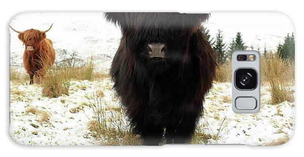 Scottish Black Highland Coo Galaxy Case