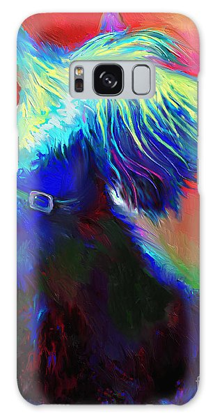 Scottish Terrier Dog Painting Galaxy Case