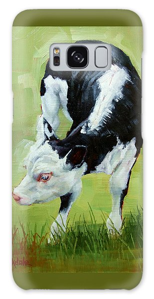 Scratching Calf Galaxy Case by Margaret Stockdale