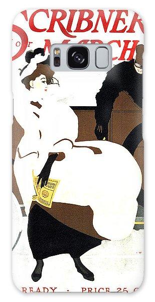 March Galaxy Case - Scribner's Magazine - March - Magazine Cover - Vintage Art Nouveau Poster by Studio Grafiikka