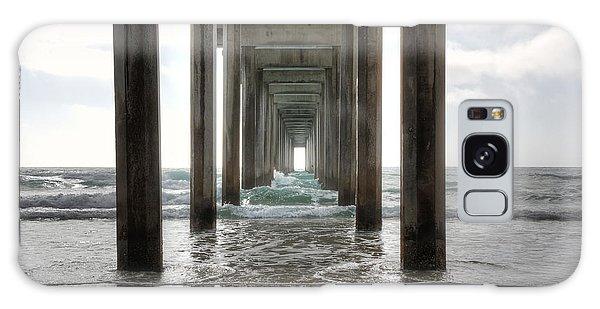 Pier Galaxy Case - Scripps Pier by Eddie Yerkish