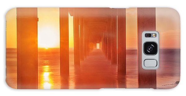 Scripps Pier Sunset Galaxy Case