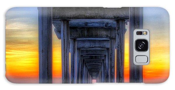 Scripp's Pier Sunset La Jolla California Galaxy Case