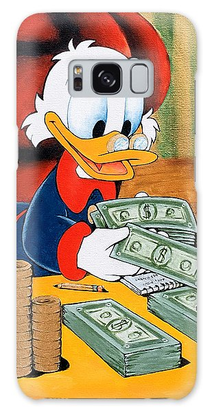 Scrooge Mcduck Counting Money Galaxy Case