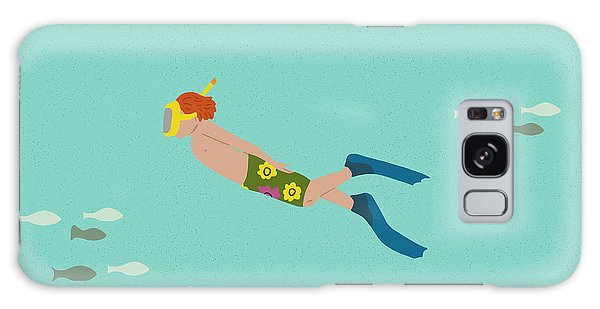 Scuba Diving Galaxy Case - Scuba Boy by Nicole Wilson