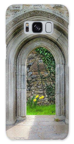 Galaxy Case featuring the photograph Sculpted Portal To Irish Spring Garden by James Truett