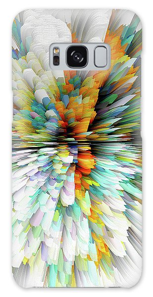Galaxy Case featuring the digital art Sculptural Series Painting23.102011windblastsccvsext4100l by Kris Haas