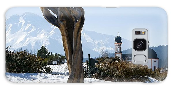 Sculpture And Tyrolean Church In The Background Galaxy Case
