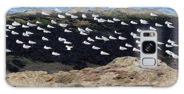 Sea Birds At Rest Galaxy Case